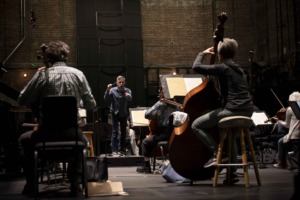 Rehearsing Beethoven's Triple Concerto.