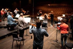 Rehearsal for Vivaldi's Four Seasons.