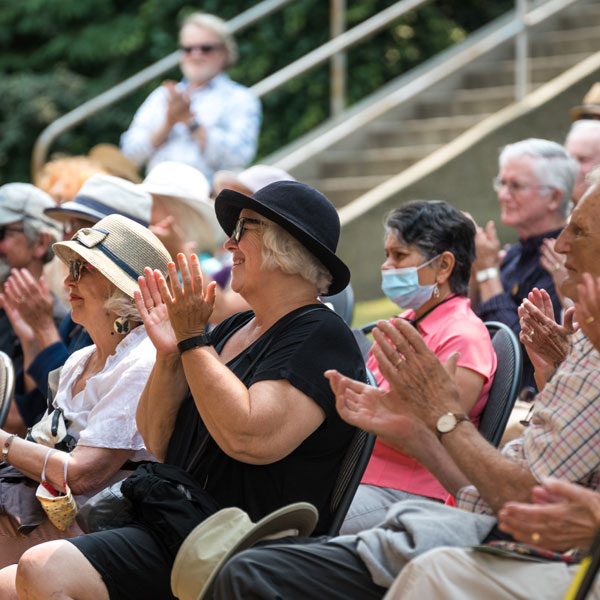 Audience in Victoria, British Columiba